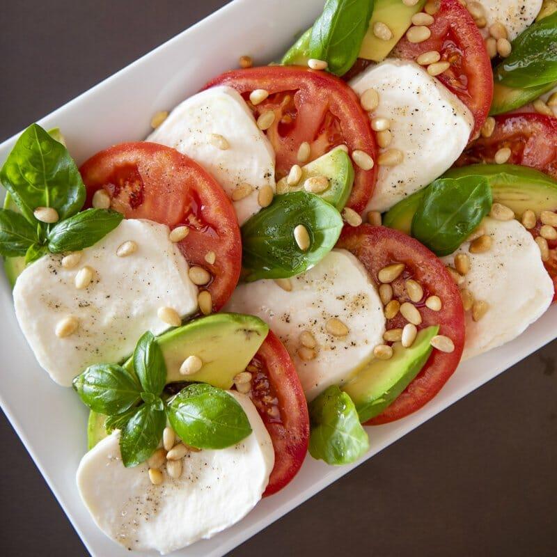 Cannabis Avocado Caprese Salad