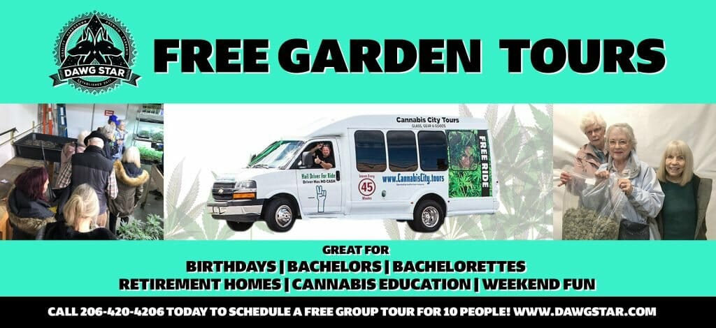 Cannabis City in Seattle Garden Bus Tours