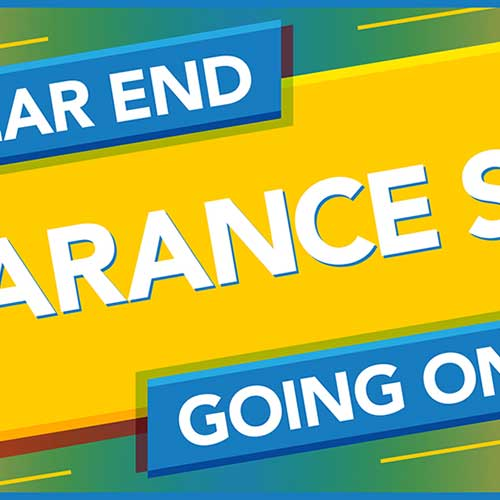 Year End Clearance Sale. Going on now while supplies last.